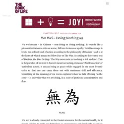 Wu Wei – Doing Nothing 無爲