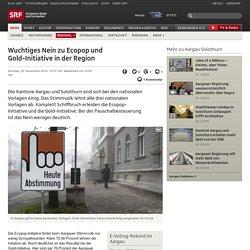 Wuchtiges Nein zu Ecopop und Gold-Initiative im Aargau