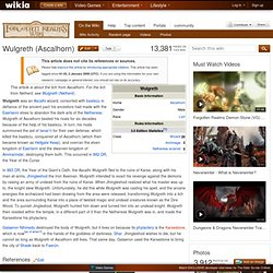 Wulgreth (Ascalhorn) - The Forgotten Realms Wiki - Books, races, classes, and more