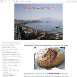 Pane di semola di grano duro (rimacinata), chleb z maki pszennej durum