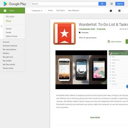 Wunderlist Task Manager - Android Apps on Google Play