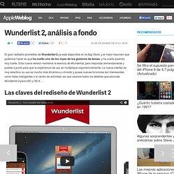 Wunderlist 2, análisis a fondo