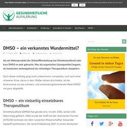 DMSO – ein verkanntes Wundermittel? › Gesundheitliche Aufklärung