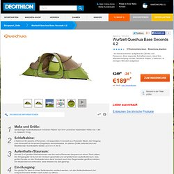 Wurfzelt Quechua Base Seconds 4.2 QUECHUA - Bergsport_Zelte Bergsport (QUECHUA)...