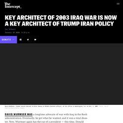 David Wurmser, Key Iraq War Architect, Advising Trump on Iran