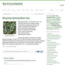 Wuyang Spring Rain tea
