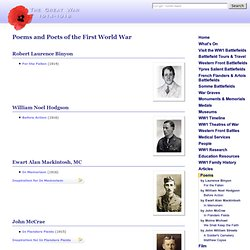 WW1 Poems