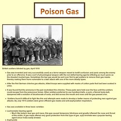WW1 Poison Gas