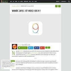 WWDC 2015 : et voici iOS 9 !