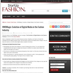 WWDMagic: Evolution of Digital Media in the Fashion Industry