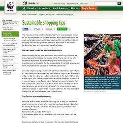 wwf - Sustainable shopping tips