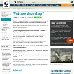 What causes climate change?