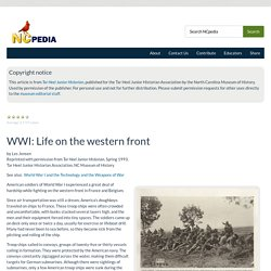 WWI: Life on the western front