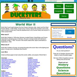 WWII History: World War II for Kids