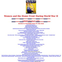 WWII Women & the Homefront