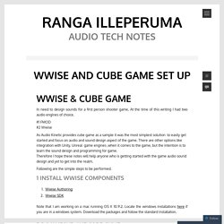 wwise and cube game set up