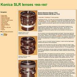 www.buhla.de - Konica Hexanon / Hexanon AR 28 mm / F3.5