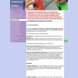 www.droitdevote.net - Modes de scrutin