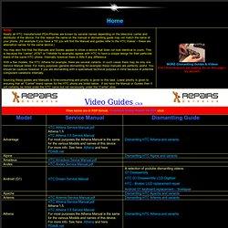 video guides repair htc