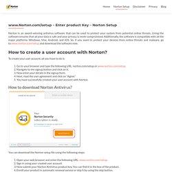 www.Norton.com/setup - Enter product Key - Norton Setup