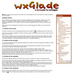 wxGlade: a GUI builder for wxWidgets/wxPython
