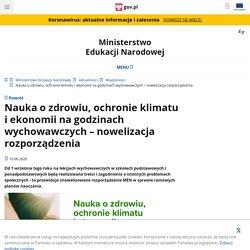 Nauka o zdrowiu, ochronie klimatu i ekonomii na godzinach wychowawczych – nowelizacja rozporządzenia - Ministerstwo Edukacji Narodowej - Portal Gov.pl