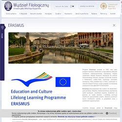 Wydział Filologiczny UMK - ERASMUS