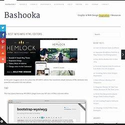 14 Best WYSIWYG HTML Editors
