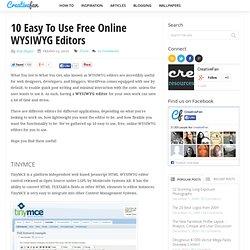 10 Easy To Use Free Online WYSIWYG Editors