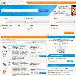 Wyszukiwarka - Zasoby - Wyszukiwarka produktów projektów konkursowych ORE IP2