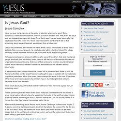 JESUS COMPLEX: Is Jesus God?