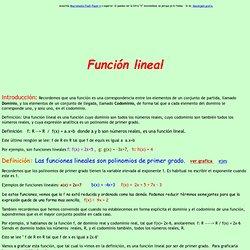 x matematica funcion lineal