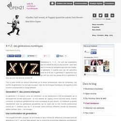 X Y Z : des générations numériques