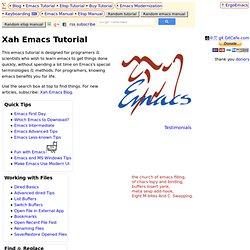 Xah Emacs Tutorial