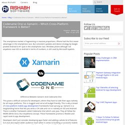 Xamarin vs Codename One Comparison