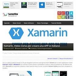 Xamarin, Video Corso per creare una APP in Italiano