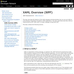 XAML Overview (WPF)
