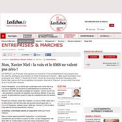 Non, Xavier Niel : la voix et le SMS ne valent pas zéro !