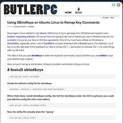 Using XBindKeys on Ubuntu Linux to Remap Key Commands
