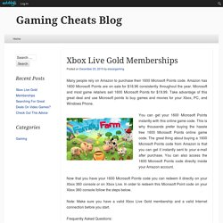 Xbox Live Gold Memberships