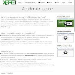 XBRLAnalyst Academic License