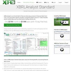 XBRLAnalyst Standard