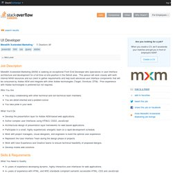UI Developer at Meredith Xcelerated Marketing - JavaScript