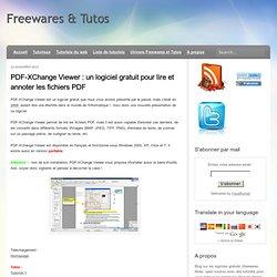 un logiciel gratuit pour lire et annoter les fichiers PDF