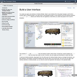 Xcode Overview: Build a User Interface