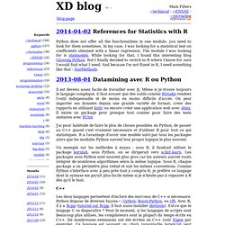 XD blog