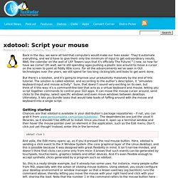 xdotool: Script your mouse