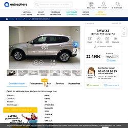 BMW X3 xDrive20d 190ch Lounge Plus occasion - 4x4 suv - manuelle - 77 400 km - VENISSIEUX (69200)