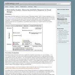 xdStrategy.com » Blog Archive » Desirability Studies: Measuring Aesthetic Response to Visual Designs