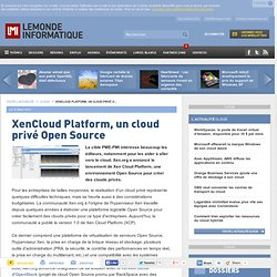 XenCloud Platform, un cloud privé Open Source